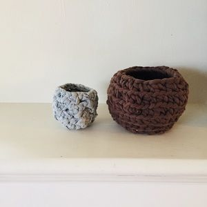 Other - Crochet fabric stacking bowls x2